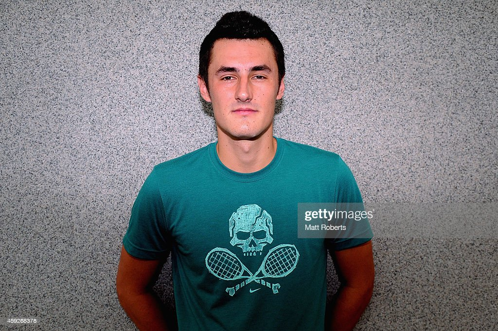 <a gi-track='captionPersonalityLinkClicked' href=/galleries/search?phrase=Bernard+Tomic&family=editorial&specificpeople=650713 ng-click='$event.stopPropagation()'>Bernard Tomic</a> poses for a photograph during a Brisbane International press conference at Royal Pines Resort on November 20, 2014 on the Gold Coast, Australia.