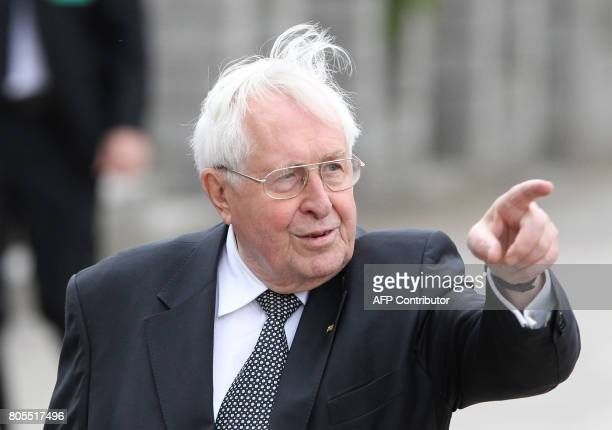 Bernard Vogel arrives for a memorial service for late former Chancellor Helmut Kohl on July 1 2017 at the cathedral in Speyer Helmut Kohl the former...