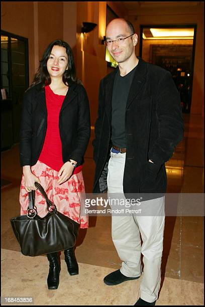Bernard Werber and Eliette Abecassis at 100th Episode Of 'Campus' Of Guillaume Durant At Le Cafe De L'Homme Restaurant At The Trocadero