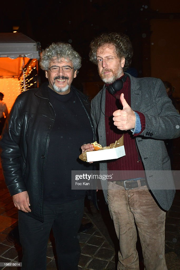 Bernard Zekri and Fabrice de Rohan Chabot attend the Fooding Awards 2013 - New Guide Launch And Celebration at Les Beaux-Arts de Paris on November 12, 2012 in Paris, France.