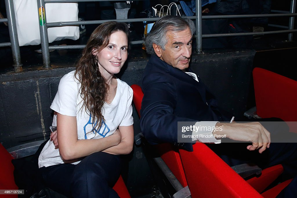 Bernard-Henri Levy and his daughter Writer Justine Levy attend Singer Arielle Dombasle performs at La Cigale on November 4, 2015 in Paris, France.