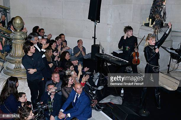 BernardHenri Levy attends Arielle Dombasle performs for the release of the Album 'La Riviere Atlantique' 'Noche de los muertos' event during the...