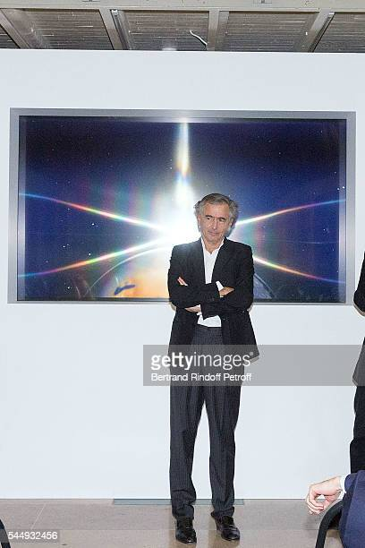 BernardHenri Levy attends 'Peshmerga' Private Screening at Galerie Azzedine Alaia on July 4 2016 in Paris France