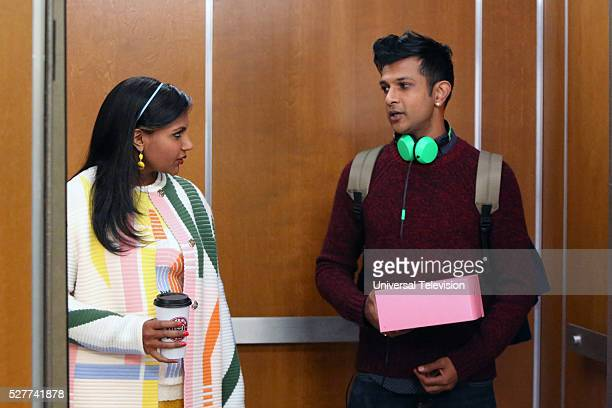 PROJECT 'Bernardo Anita' Episode 418 Pictured Mindy Kaling as Mindy Lahiri Utkarsh Ambudkar as Rishi Lahiri