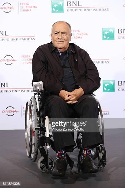 Bernardo Bertolucci attends a photocall during the 11th Rome Film Festival at Auditorium Parco Della Musica on October 15 2016 in Rome Italy