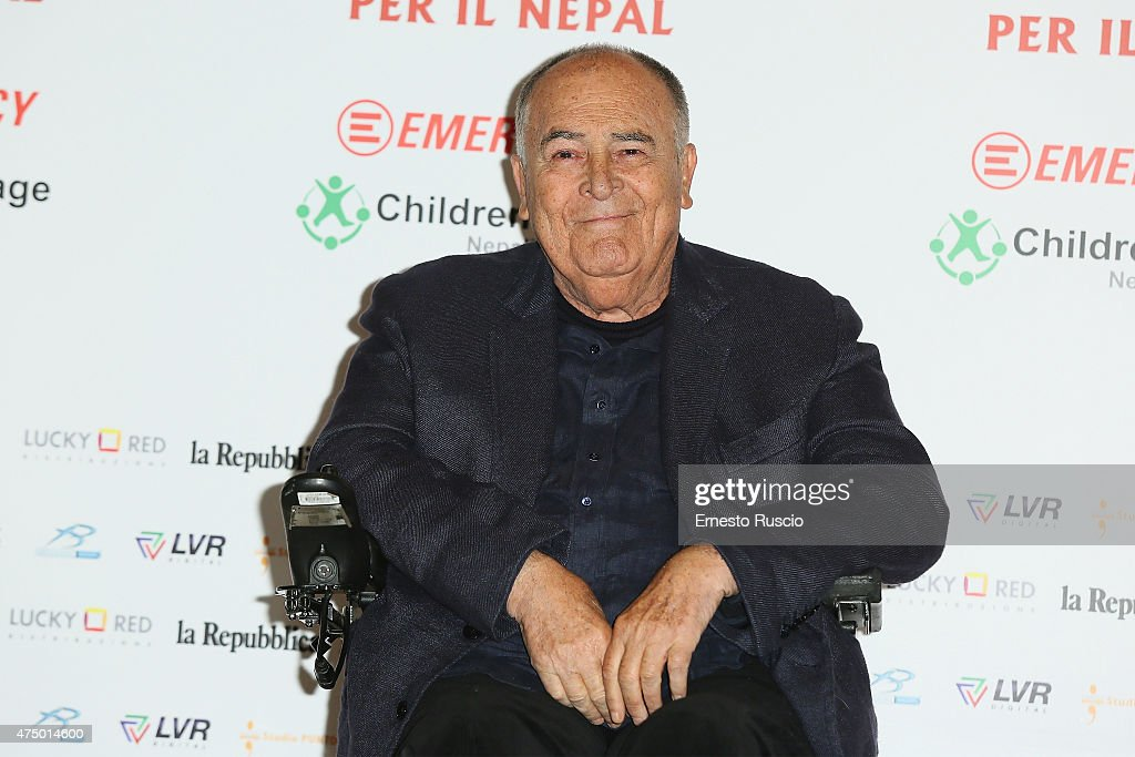 <a gi-track='captionPersonalityLinkClicked' href=/galleries/search?phrase=Bernardo+Bertolucci&family=editorial&specificpeople=228513 ng-click='$event.stopPropagation()'>Bernardo Bertolucci</a> attends the '<a gi-track='captionPersonalityLinkClicked' href=/galleries/search?phrase=Bernardo+Bertolucci&family=editorial&specificpeople=228513 ng-click='$event.stopPropagation()'>Bernardo Bertolucci</a> Per Il Nepal' Charity Event at Auditorium Parco Della Musica on May 28, 2015 in Rome, Italy.