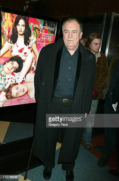 Bernardo Bertolucci director during 'The Dreamers' New York Premiere Inside Arrivals at The Beekman Theatre in New York City New York United States