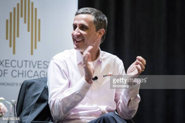 Bernardo Hees chief executive officer of the Kraft Heinz Co applauds following an Executives' Club of Chicago event in Chicago Illinois US on Monday...