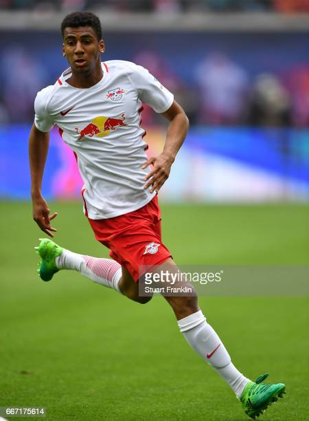 Bernardo of Leipzig in action during the Bundesliga match between RB Leipzig and Bayer 04 Leverkusen at Red Bull Arena on April 8 2017 in Leipzig...