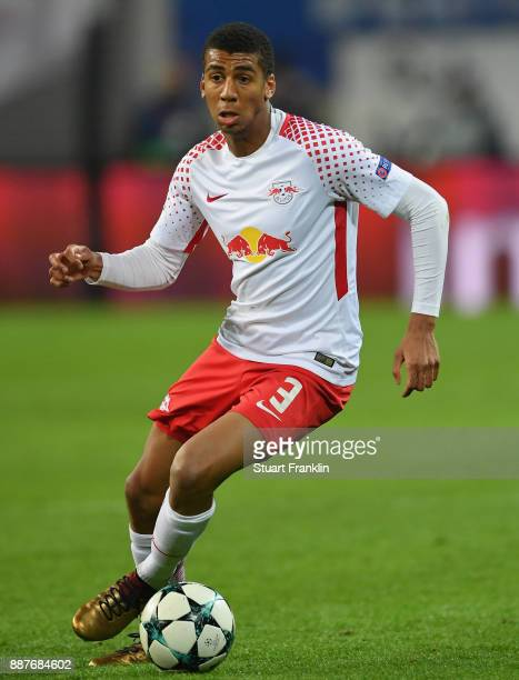 Bernardo of Leipzig in action during the UEFA Champions League group G match between RB Leipzig and Besiktas at Red Bull Arena on December 6 2017 in...