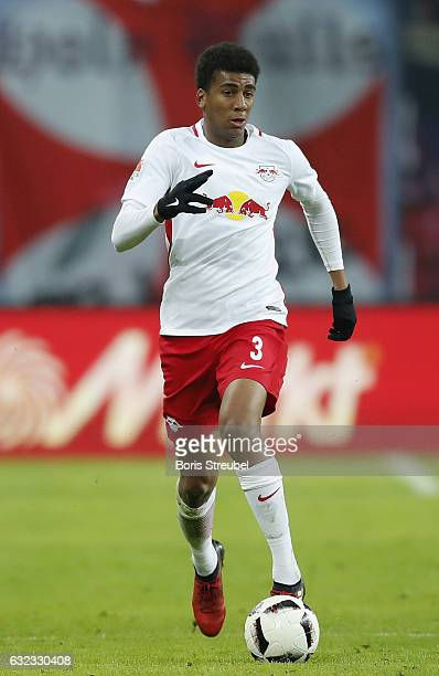 Bernardo of RB Leipzig runs with the ball during the Bundesliga match between RB Leipzig and Eintracht Frankfurt at Red Bull Arena on January 21 2017...