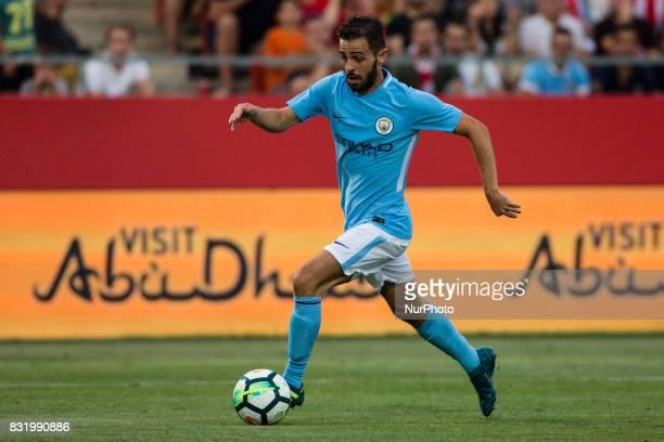 20 Bernardo Silva from Portugal of Manchester City during the Costa Brava Trophy match between Girona FC and Manchester City at Estadi de Montilivi...