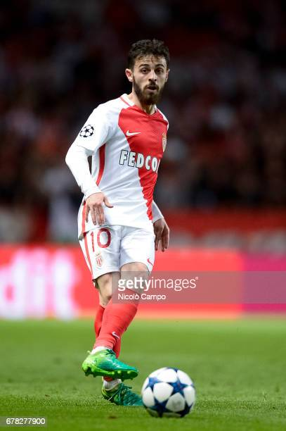 Bernardo Silva of AS Monaco in action during the UEFA Champions League Semi Final first leg football match between AS Monaco and Juventus FC
