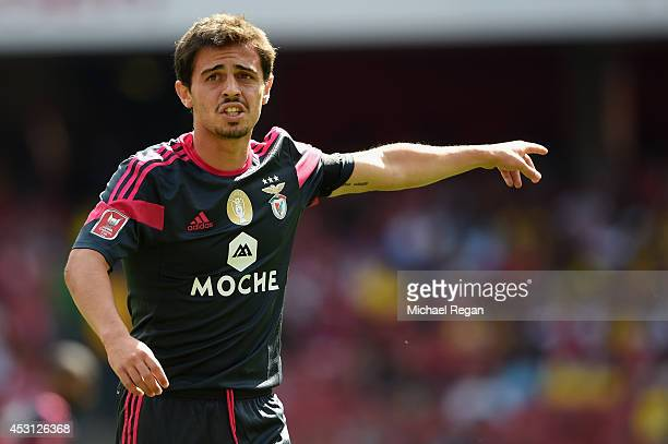 Bernardo Silva of Benfica gesture during the Emirates Cup match between Benfica and Valencia at the Emirates Stadium on August 3 2014 in London...