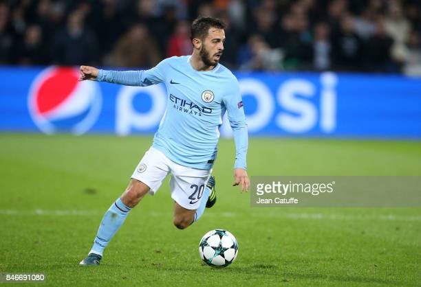 Bernardo Silva of Manchester City during the UEFA Champions League match between Feyenoord Rotterdam and Manchester City at Stadion Feijenoord on...