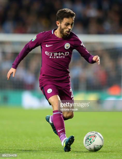 Bernardo Silva of Manchester City in action during the Carabao Cup Third Round match between West Bromwich Albion and Manchester City at The...