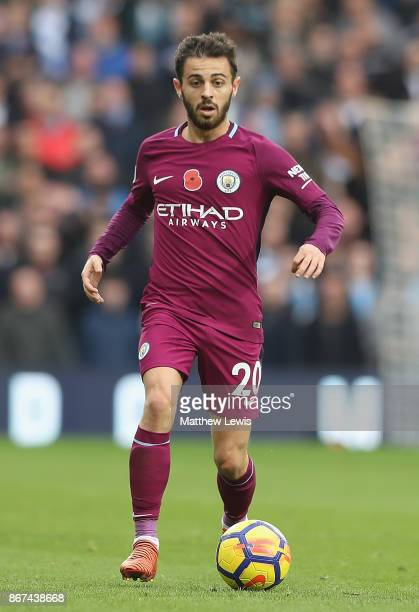 Bernardo Silva of Manchester City in action during the Premier League match between West Bromwich Albion and Manchester City at The Hawthorns on...
