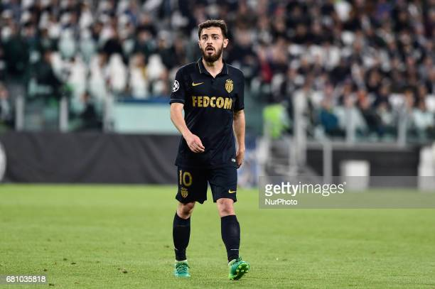 Bernardo Silva of Monaco during the UEFA Champions League SemiFinal game 2 match between Juventus and Monaco at the Juventus Stadium Turin Italy on 9...