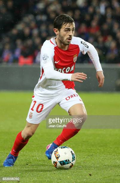 Bernardo Silva of Monaco in action during the French Ligue 1 match between Paris Saint Germain and AS Monaco at Parc des Princes stadium on January...