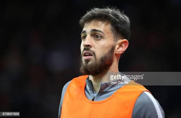 Bernardo Silva of Monaco looks on during the French Cup semifinal match between Paris SaintGermain and AS Monaco at Parc des Princes stadium on April...