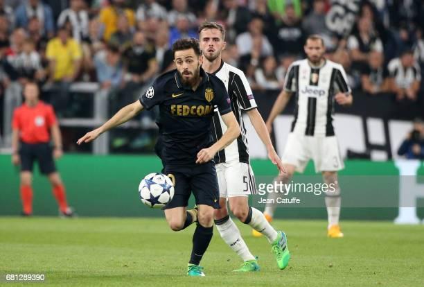 Bernardo Silva of Monaco Miralem Pjanic of Juventus during the UEFA Champions League semi final second leg match between Juventus Turin and AS Monaco...