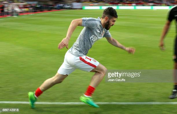 Bernardo Silva of Monaco warms up before the French Ligue 1 match between AS Monaco and AS SaintEtienne at Stade Louis II on May 17 2017 in Monaco...