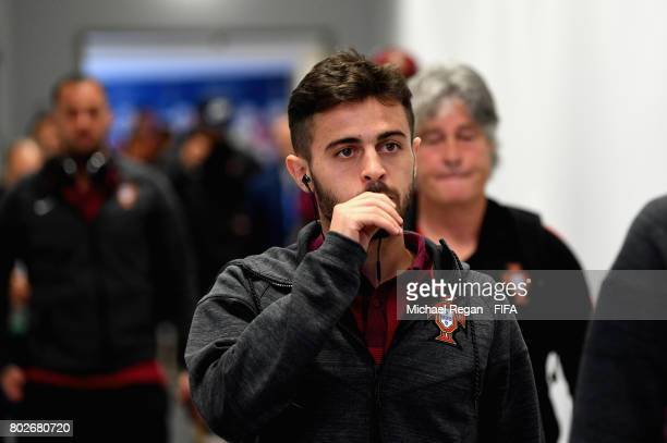 Bernardo Silva of Portugal arrives at the stadium prior to the FIFA Confederations Cup Russia 2017 SemiFinal between Portugal and Chile at Kazan...