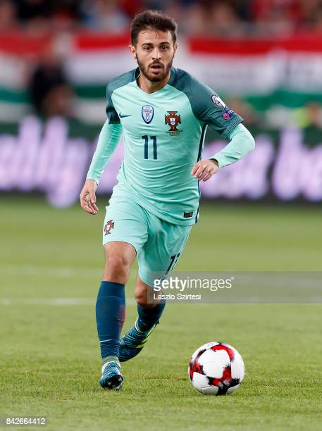 Bernardo Silva of Portugal controls the ball during the FIFA 2018 World Cup Qualifier match between Hungary and Portugal at Groupama Arena on...