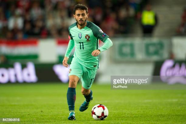 Bernardo Silva of Portugal controls the ball during the FIFA World Cup 2018 Qualifying Round match between Hungary and Portugal at Groupama Arena in...