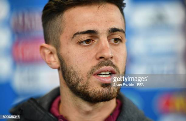 Bernardo Silva of Portugal during an interview after the FIFA Confederation Cup Group A match between New Zealand and Portugal at Saint Petersburg...
