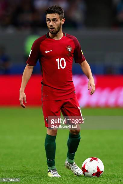 Bernardo Silva of Portugal in action during the FIFA Confederations Cup Russia 2017 SemiFinal between Portugal and Chile at Kazan Arena on June 28...