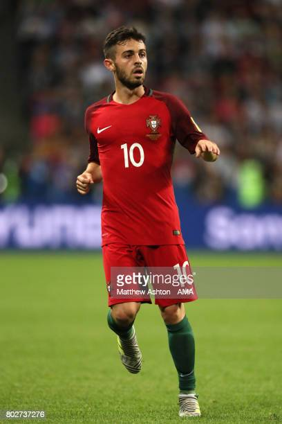 Bernardo Silva of Portugal in action during the FIFA Confederations Cup Russia 2017 SemiFinal match between Portugal and Chile at Kazan Arena on June...