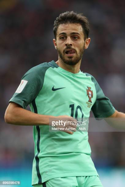 Bernardo Silva of Portugal looks on during the FIFA Confederations Cup Russia 2017 Group A match between Russia and Portugal at Spartak Stadium on...