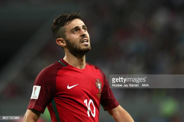 Bernardo Silva of Portugal looks on during the FIFA Confederations Cup Russia 2017 SemiFinal match between Portugal and Chile at Kazan Arena on June...