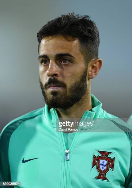 Bernardo Silva of Portugal looks on prior to the FIFA 2018 World Cup Qualifier between Andorra and Portugal at the Estadi Nacional on October 7 2017...