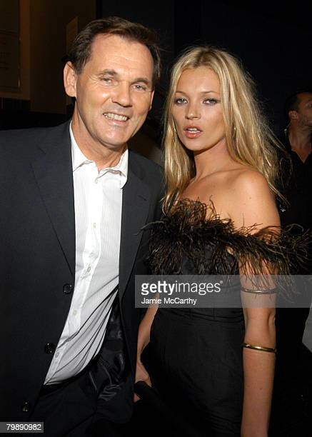 Bernd Beetz CEO of Coty Inc and Kate Moss at Coty's 100th Anniversary Celebration in New York City