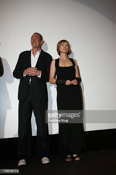 Bernd Eichinger and Corinna Harfouch at the premiere of 'Perfume' In Berlin Cinestar