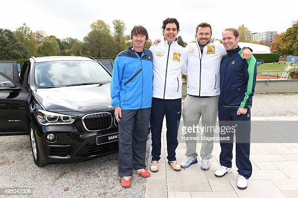 Bernd Karbacher Fabian Tross Alexander Waske und Rainer Schuettler attends the 'Golden RacketCharity2015Tournament' on October 17 2015 in Munich...