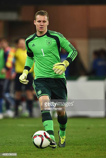 Bernd Leno of Germany in action during a U21 International friendly match between U21 Germany and U21 Italy on March 27 2015 in Paderborn Germany