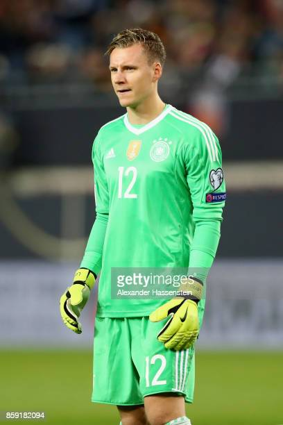 Bernd Leno of Germany looks on during the FIFA 2018 World Cup Qualifier between Germany and Azerbaijan at FritzWalterStadion on October 8 2017 in...