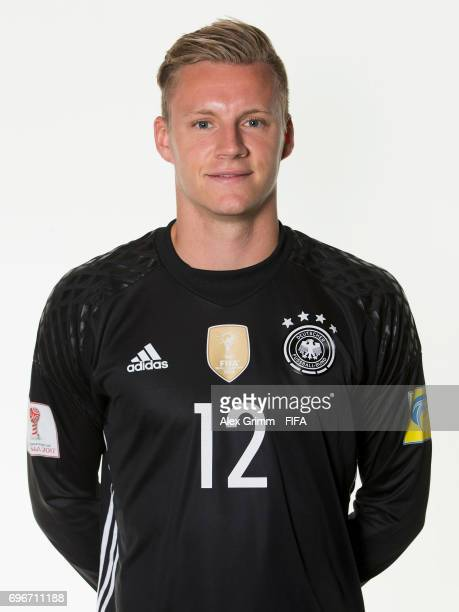 Bernd Leno poses for a picture during the Germany team portrait session on June 16 2017 in Sochi Russia