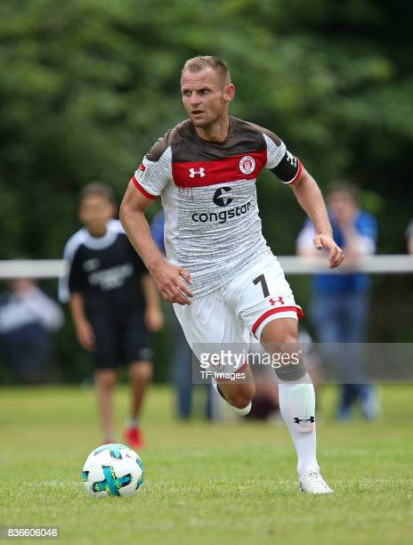 Bernd Nehrig of St Pauli controls the ball during the preseason friendly match between VfB Oldenburg and FC St Pauli on July 8 2017 in Varel Germany