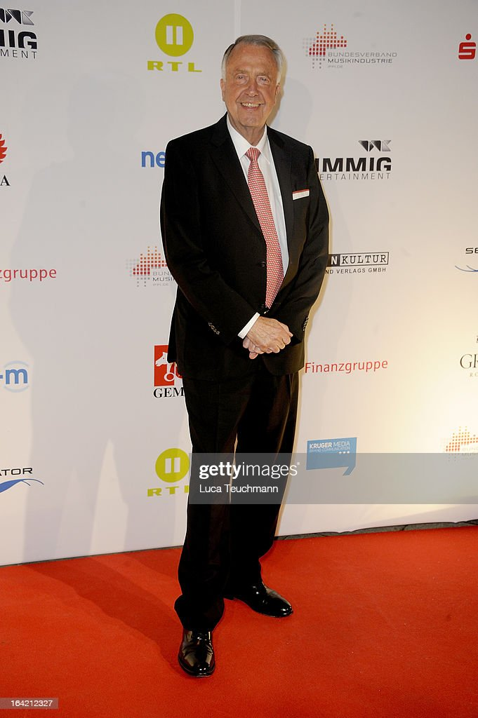 Bernd Neumann attends the 'Musik Hilft' Charity Dinner at the Grill Royal on March 20, 2013 in Berlin, Germany.
