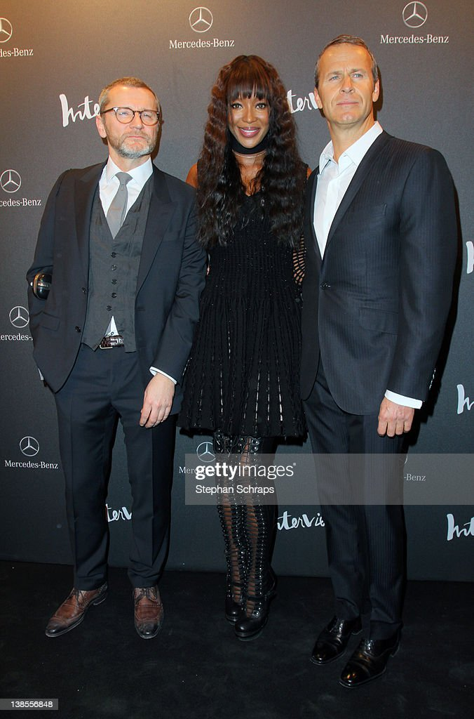 Bernd Runge Model Naomi Campbell and Vladislav Doronin attend the INTERVIEW Germany Launch Party at Auguststrasse 11 on February 08 2012 in Berlin...