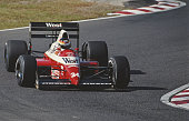Bernd Schneider of Germany drives the West Zakspeed Racing Zakspeed 891 Yamaha V8 during the Fuji Television Japanese Grand Prix on 22 October 1989...