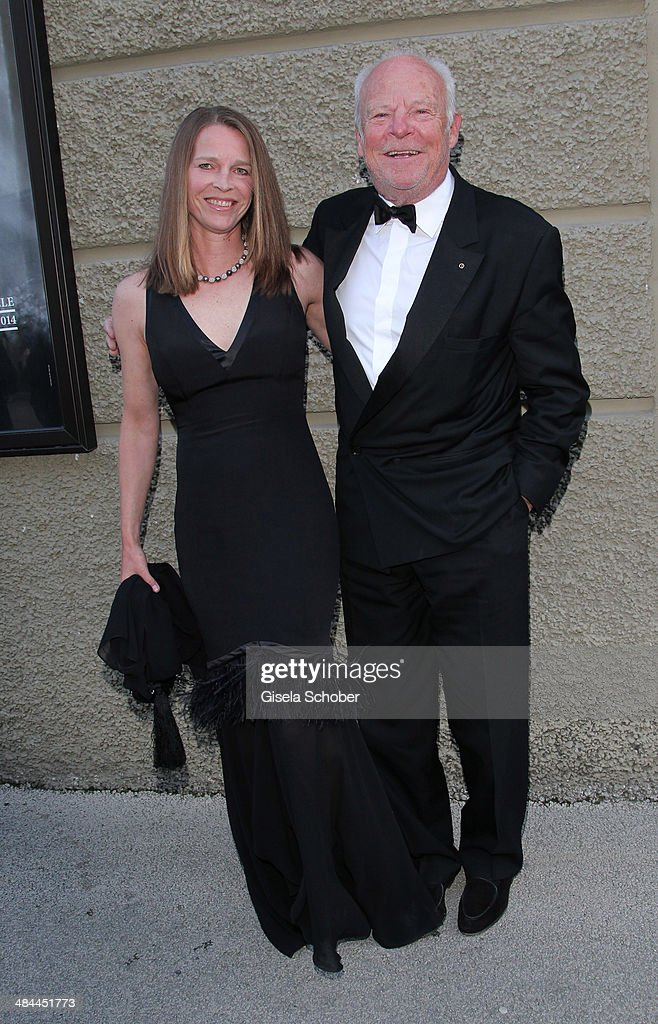 Bernd Tewaag and his wife Anke Tewaag attend the opening of the easter festival 2014 (Osterfestspiele) on April 12, 2014 in Salzburg, Austria.