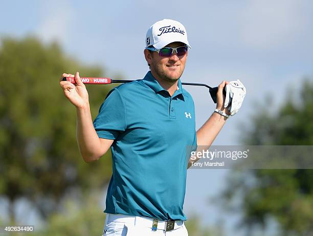 Bernd Wiesberger of Austria during the ProAm event prior to the start of the Portugal Masters at Oceanico Victoria Golf Club on October 14 2015 in...