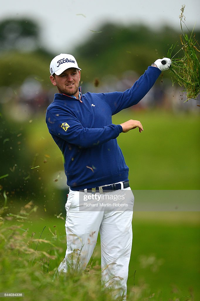 <a gi-track='captionPersonalityLinkClicked' href=/galleries/search?phrase=Bernd+Wiesberger&family=editorial&specificpeople=4025132 ng-click='$event.stopPropagation()'>Bernd Wiesberger</a> of Austria hits his 2nd shot on the 18th hole during the second round of the 100th Open de France at Le Golf National on July 1, 2016 in Paris, France.