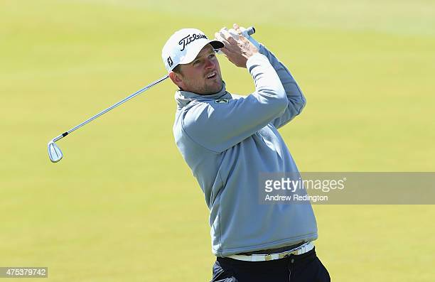Bernd Wiesberger of Austria hits his 2nd shot on the 3rd hole during the Final Round of the Dubai Duty Free Irish Open Hosted by the Rory Foundation...