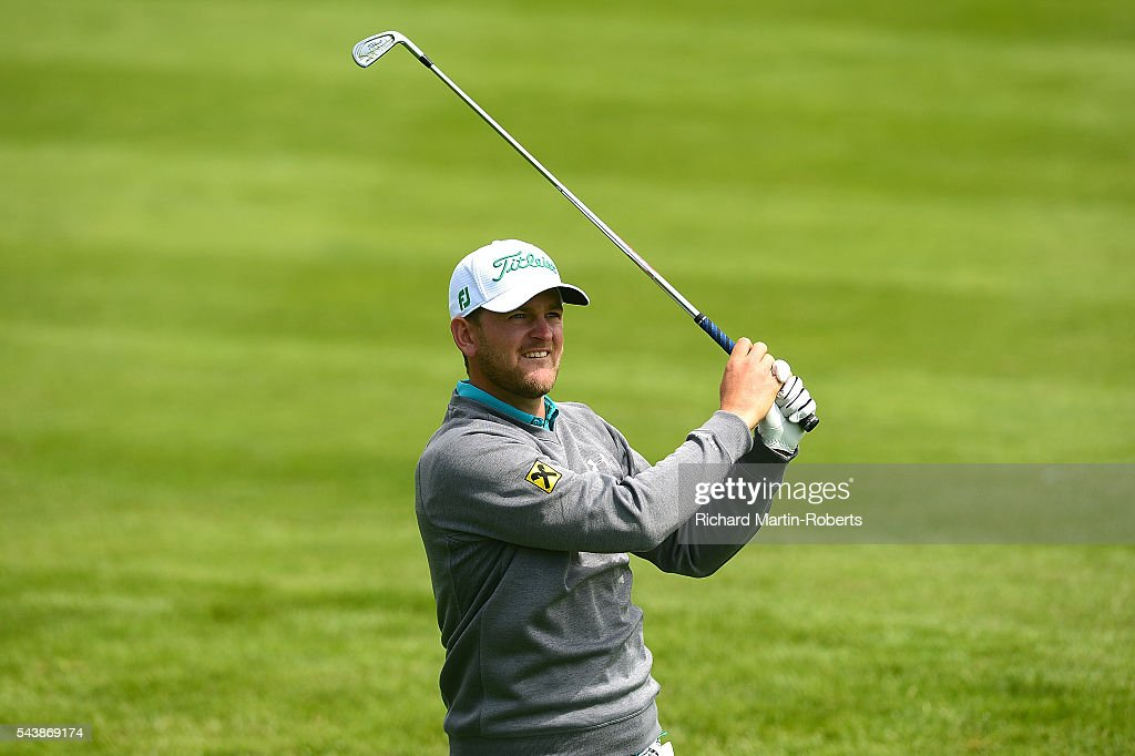 <a gi-track='captionPersonalityLinkClicked' href=/galleries/search?phrase=Bernd+Wiesberger&family=editorial&specificpeople=4025132 ng-click='$event.stopPropagation()'>Bernd Wiesberger</a> of Austria hits his 2nd shot on the 9th hole during the first round of the 100th Open de France at Le Golf National on June 30, 2016 in Paris, France.
